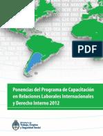 Libro Ponencias Relaciones Laborales Internacionales 2012