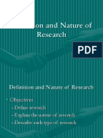 Definition and Nature of Research