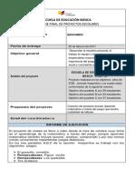 Modelo Informe de Proyecto Escolar