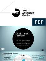 Smpte Uk & Sam - St 2110 the Basics Final