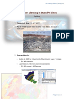 Short Term Mine Planning - Syllabus, 2014