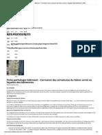 Fiche Pathologie Bâtiment - Corrosion d...on Armé en Façades Des Bâtiments _ AQC