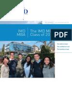 IMD MBA 2016 Class Profile
