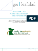 Position Profile - Center for Rural Policy and Development - President and CEO