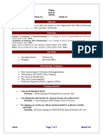 Fresher Bio Technology Resume 1