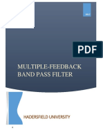MULTIPLE-FEEDBACK  BAND PASS FILTER