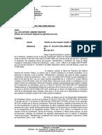 Oficio Solicito Precisar Informacion de Proyecto Liuyugaran Cochamarca