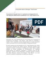 21/Diciembre/2017    Entrega Toño Astiazarán paneles solares al albergue
