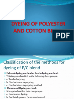 Dyeing of Polyester and Cotton Blend