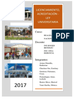Licenciamiento y Acreditacion de Universidades