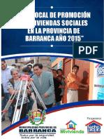 Libro Plan de Promoción de Vivienda Social - Provincia de Barranca 2015