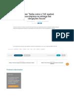 """Webinar """"Saiba Como o TAF Ajudará a Sua Empresa Na Entrega Das Obrigações Fiscais"""""""