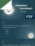 preposizioni brrrividose