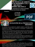 Evolucion Produccion Industrial