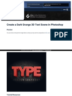 Https Www Webpagefx Com Blog Web Design Create a Dark Grunge 3d Text Scene in Photoshop