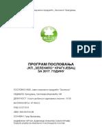 Program Poslovanja 2017 22.12.2016 Zelenilo
