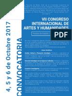 Convocatoria VII Congreso de Artes y Humanidades FBA-2017