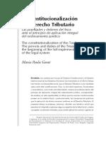La Constitucionalización del Derecho Tributario