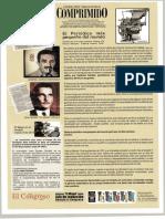 Afiche revista El Congreso sobre El Comprimido