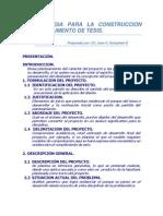 Metodologia Para La Construccion de Un Documento de Tesis