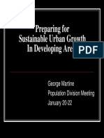 Preparing for Sustainable Urban Growth in developing Areas