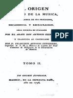 Del Origen y Reglas de la Musica