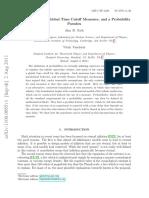 Inflación eterna, medidas de corte de tiempo global y una paradoja de probabilidad.