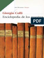 Colli Giorgio - Enciclopedia De Los Maestros.pdf
