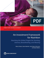 Investment Framework for Nutrition by the World Bank