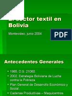 Sector Textil en Bolivia