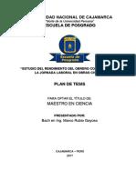 ESTUDIO DEL RENDIMIENTO DEL OBRERO