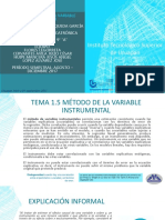 Metodo Variable Instrumental u1 Eq5 Cpa Ppt