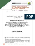 Adjudicacion Directa Selectiva N° 010 mantenimiento rutinario PA 105 publicar