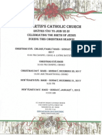 St. Martin's Catholic Church Christmas Schedule 2017