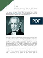 Immanuel Kant Biografia