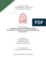 El Modelo de Desarrollo Económico Implementado en El Salvador y Su Impacto en El Proceso de Desertificación. Década 1992-2002