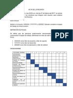 Cronograma y Definición Roles