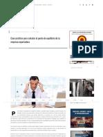 Caso Práctico Para Calcular El Punto de Equilibrio de Tu Empresa Exportadora - DIARIO DEL EXPORTADOR