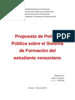 Formulacion de Politica Publica Educativa