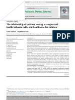 Pedo_the Relationship of Mother Coping Strategies and Health Behavior With Oral Health Care for Children