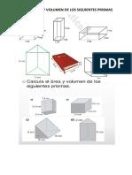 Area y Volumen de Prismas
