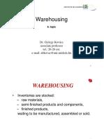 7. Warehousing