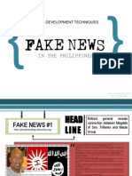 Sample of Fake News in the Philippines