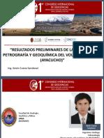 Resultados Preliminares de La Geología, Petrografía y Geoquimica Del Volcán Sara Sara (Ayacucho) - Kevin Cueva