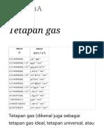 Tetapan Gas - Wikipedia Bahasa Indonesia, Ensiklopedia Bebas