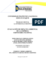 Estudio de Impacto Ambiental Cervecería Nacional