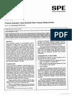 Fracture Evaulation Using Borehole Sonic Velocity Measurements (Liu)