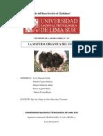 Informe M.O - EDAFOLOGIA