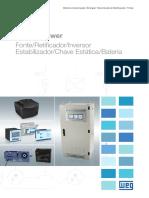 WEG Critical Power Fonte Retifcador Inversor Estabilizador Chave Estatica Bateria 50032773 Catalogo Portugues Br