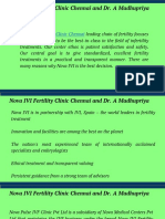 Nova IVI Fertility Clinic Chennai and Dr. a Madhupriya